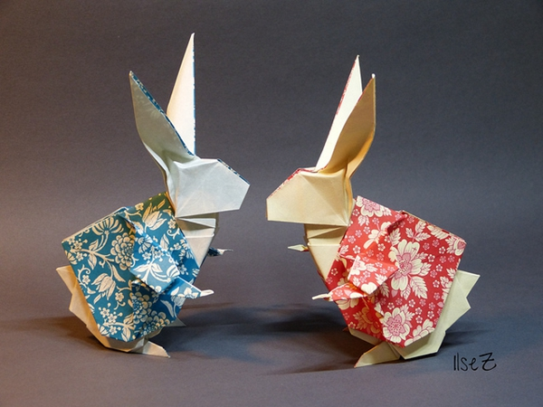 origami rabbit wonderland